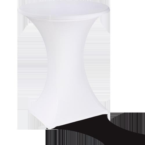 Table mange-debout blanche pour mariage ou fête